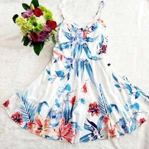 Old Navy Women's Floral Tropical Dress Size Large